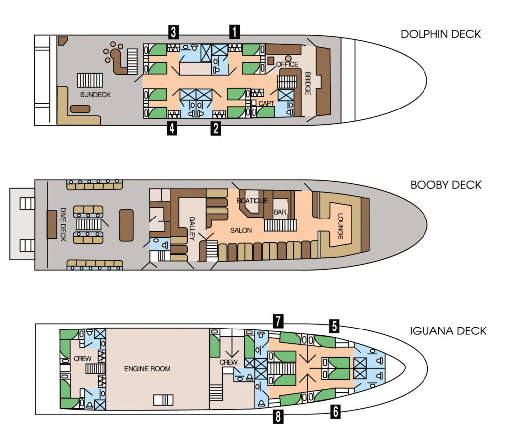 galapagos boat deck plans